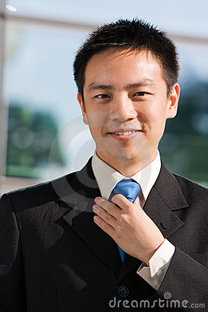 Asian chinese business man