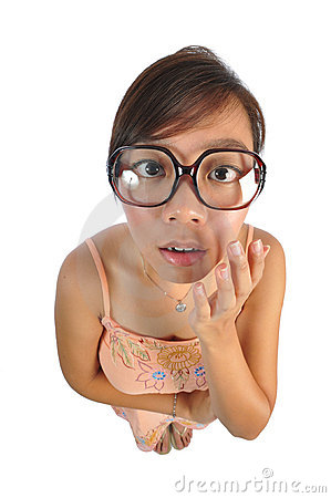 Free Asian Chinese Girl Looking Shocked Royalty Free Stock Image - 11660586