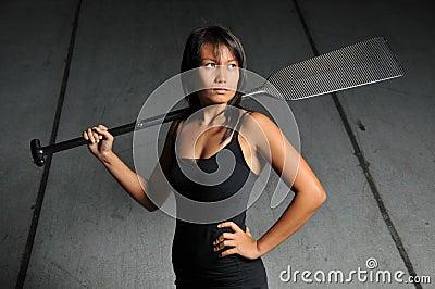 Asian Chinese sports woman