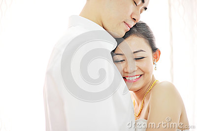 Asian Chinese wedding couple