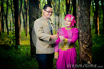 Asian Couple Engagment