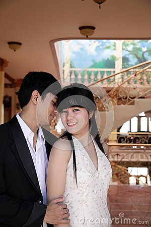 Asian couple indoor