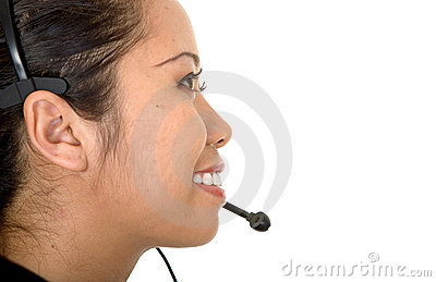 Asian customer service woman