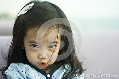 Asian cute little girl