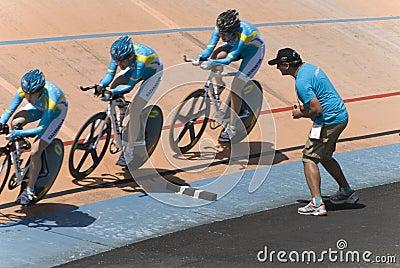 Asian Cycling Championships 2012, Kazakhstan Team Editorial Stock Photo