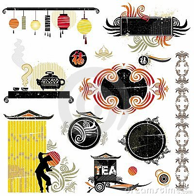 Free Asian Design Elements Royalty Free Stock Image - 4002536