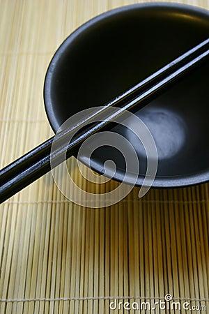 Free Asian Dining Set - Chopsticks And Bowl Royalty Free Stock Photos - 462978