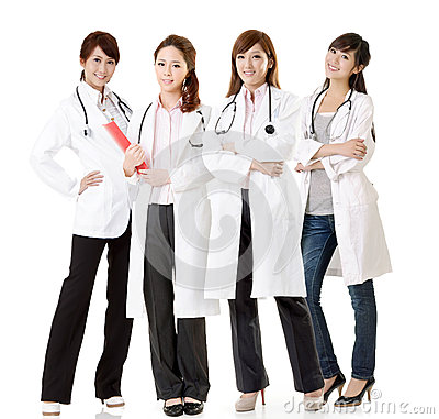 Asian doctor team