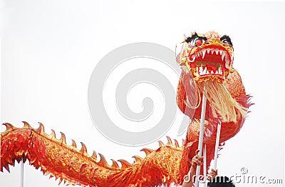 Asian dragon dance
