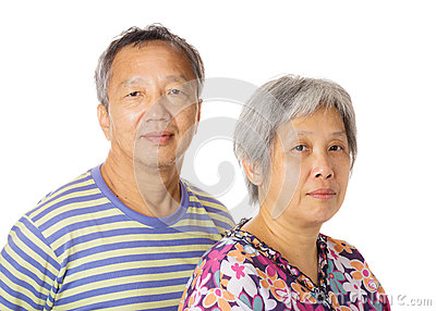 Asian elderly couple