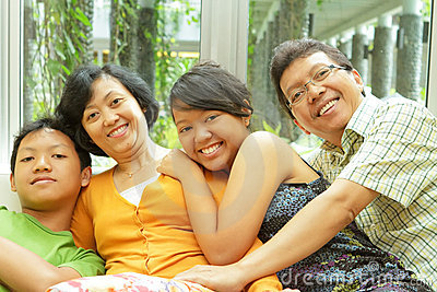 Asian Family Togetherness Royalty Free Stock Image - Image: 17484316