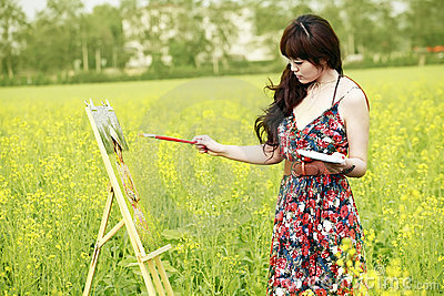 Asian female painter