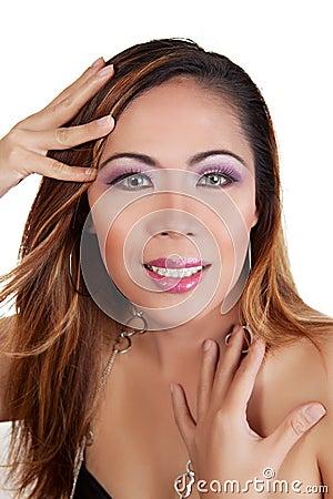Asian female smiling