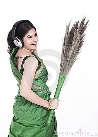 Asian female sweeper