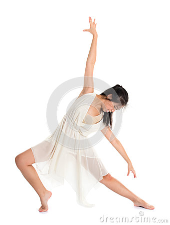 Asian female teen contemporary dancer