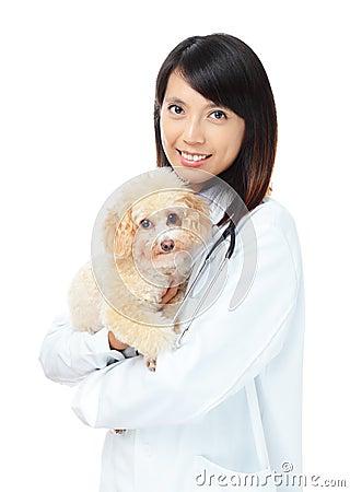 Asian female veterinarian