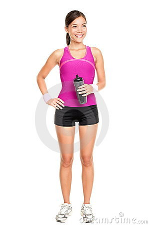 Asian fitness woman model standing