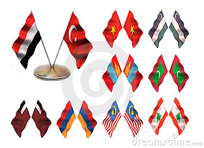 Asian flags 4.