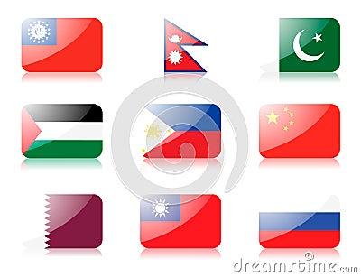 Asian flags set 4