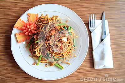 Asian food named mie goreng