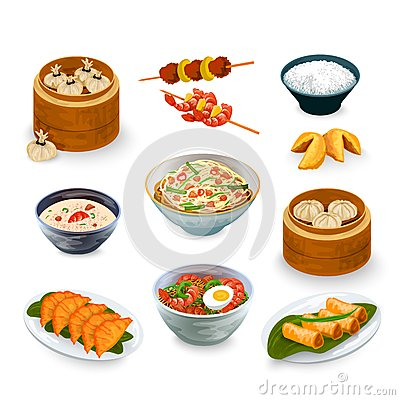 Free Asian Food Set Stock Images - 51836854