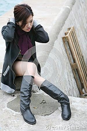 Free Asian Girl Adjusting Hair Stock Photos - 2171183