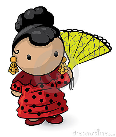 Asian girl cartoon
