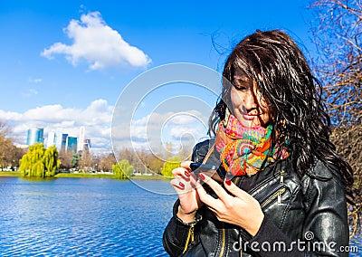 Asian girl chatting