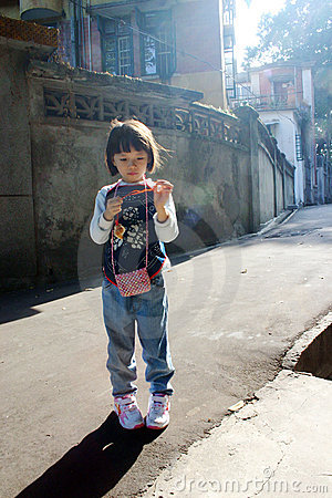 Asian girl child, China
