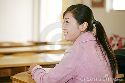 Asian girl in classroom