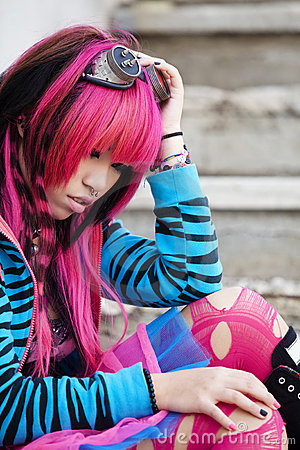 Asian girl close portrait
