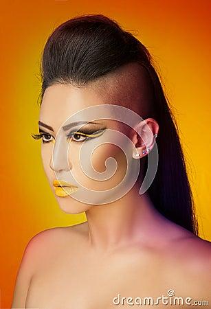Sunset colors makeup art