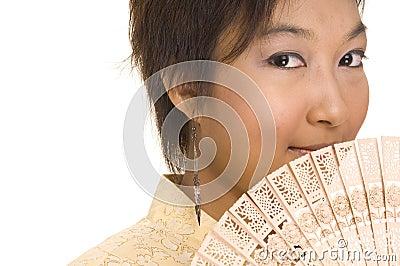 Asian Girl and Fan 2