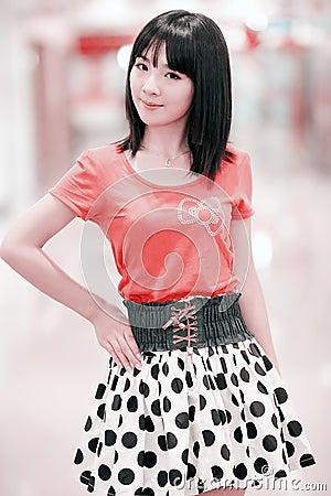 Asian girl indoor portrait