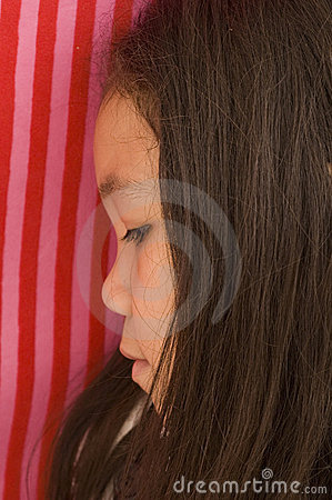 Free Asian Girl Looking Down Royalty Free Stock Photo - 10644255