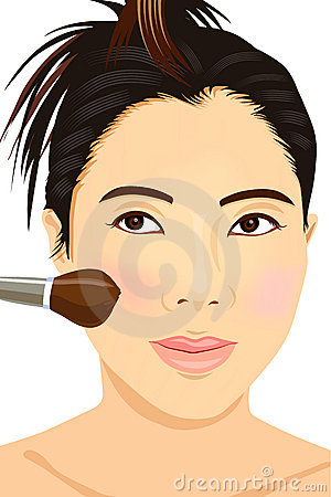 Asian girl make-up