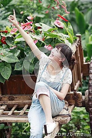 Asian girl outdoor