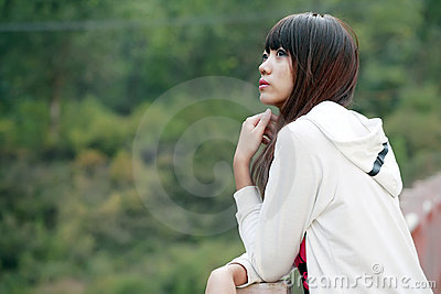 Asian girl outdoor portrait