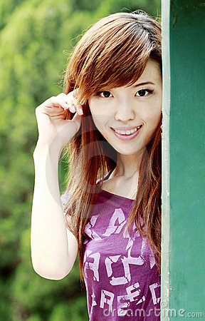 Asian girl outdoors