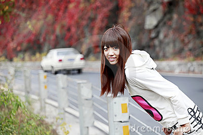 Asian girl in outing