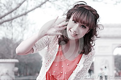 Asian girl in the park
