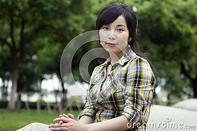 Asian girl in a prak