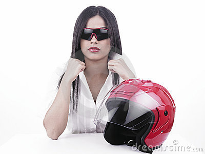 Asian girl racer