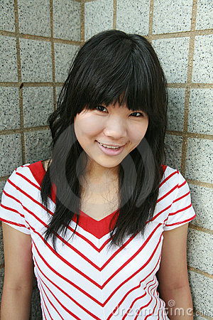 Asian girl smiling