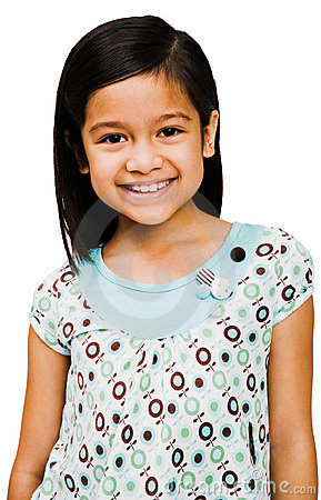 Asian girl smiling