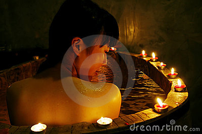 Asian girl in spa