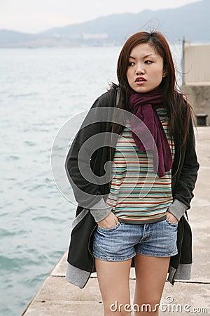 Asian girl standing