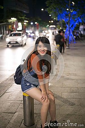 Asian Girl In Street Portrait Free Public Domain Cc0 Image