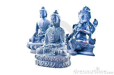Asian gods statues