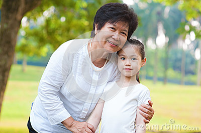 Asian grandparent and grandchild